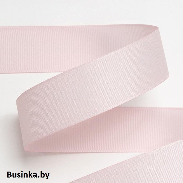 Лента репсовая 4 см, светло-розовый 06 (1 метр)