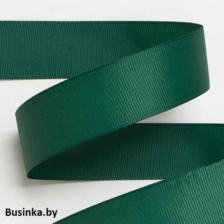 Лента репсовая 4 см, тёмно-зелёный 57 (1 метр)