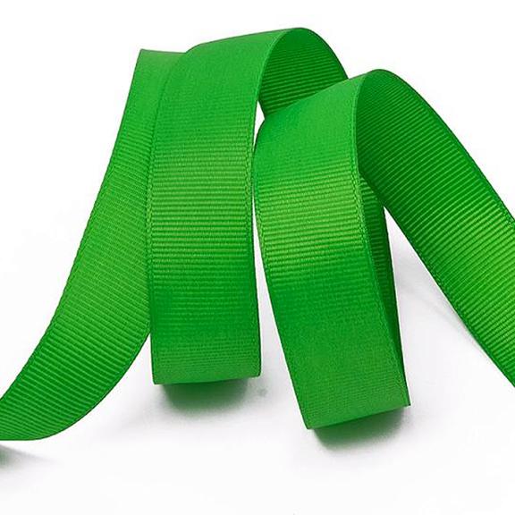 Лента репсовая 4 см, зелёный 22 (бобина)