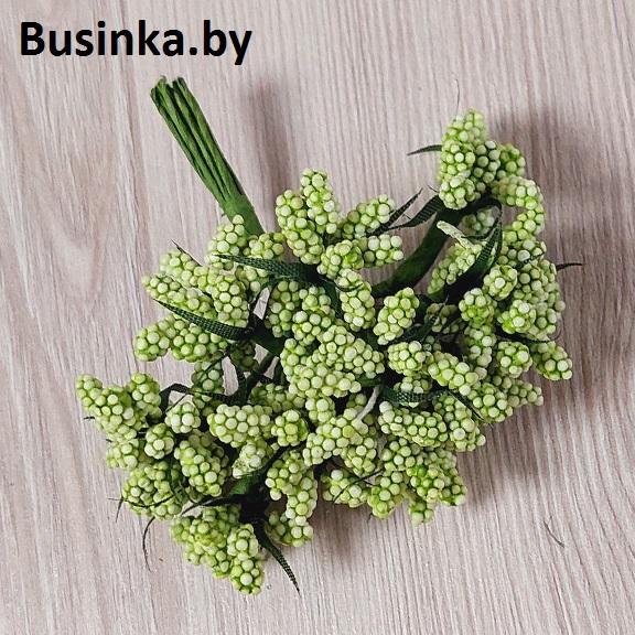 Тычинки декоративные, зелёный 1 шт (12 минибукетов)