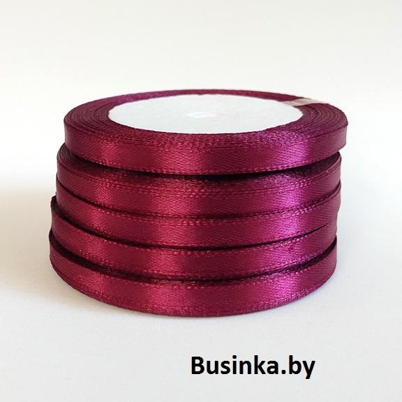 Атласная лента 0,6 см (бабина) бургунди