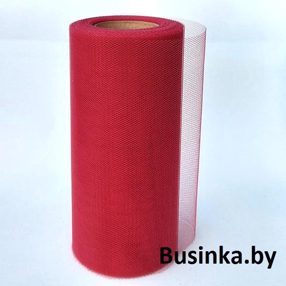 Фатин 15 см, бордовый (1 метр)