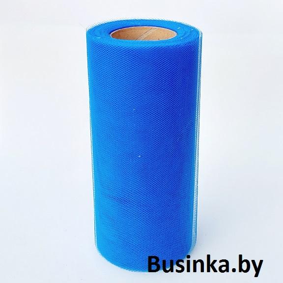 Фатин 15 см, синий (1 метр)