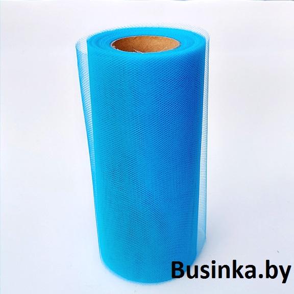 Фатин 15 см, бирюзовый (1 метр)