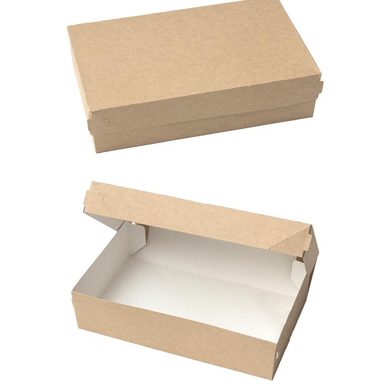 Коробка крафтовая 23x14x6 см 1900 мл (4 шт)