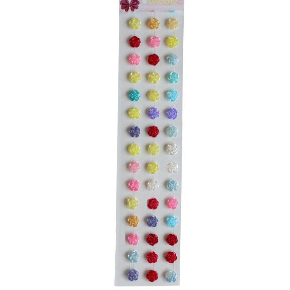 Кабошоны декоративные «Цветочек» 12 мм, ассорти, набор 48 штук