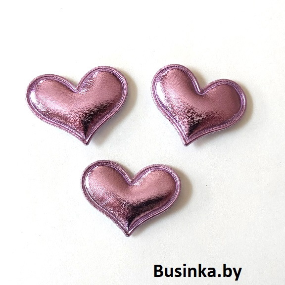 Патч 3D глянец «Сердце» 3*3,6 см, фиолетовый