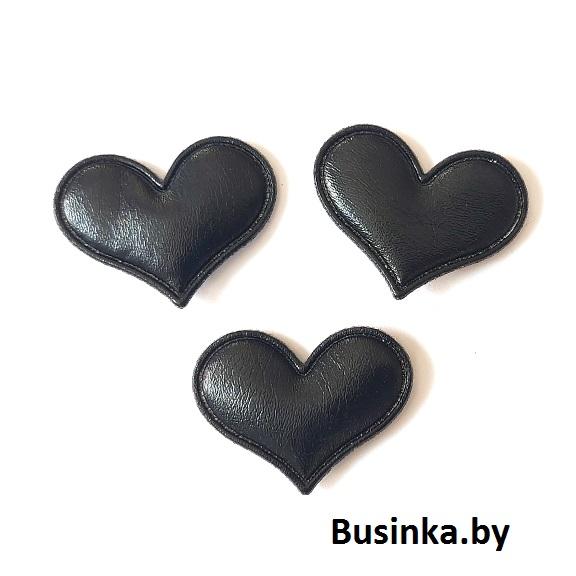 Патч 3D глянец «Сердце» 3*3,6 см, чёрный