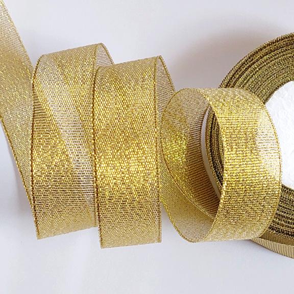 Лента парча 2,5 см (металлизированная) (1 метр), золото