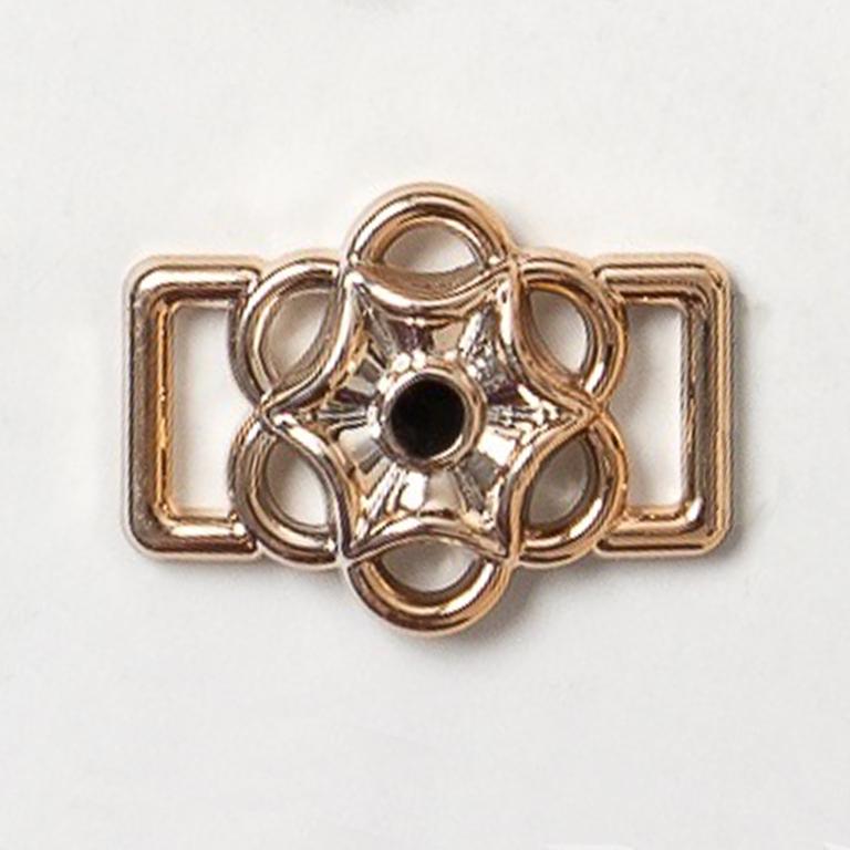 Пряжка декоративная 25*18 мм (1 шт), золото/чёрный