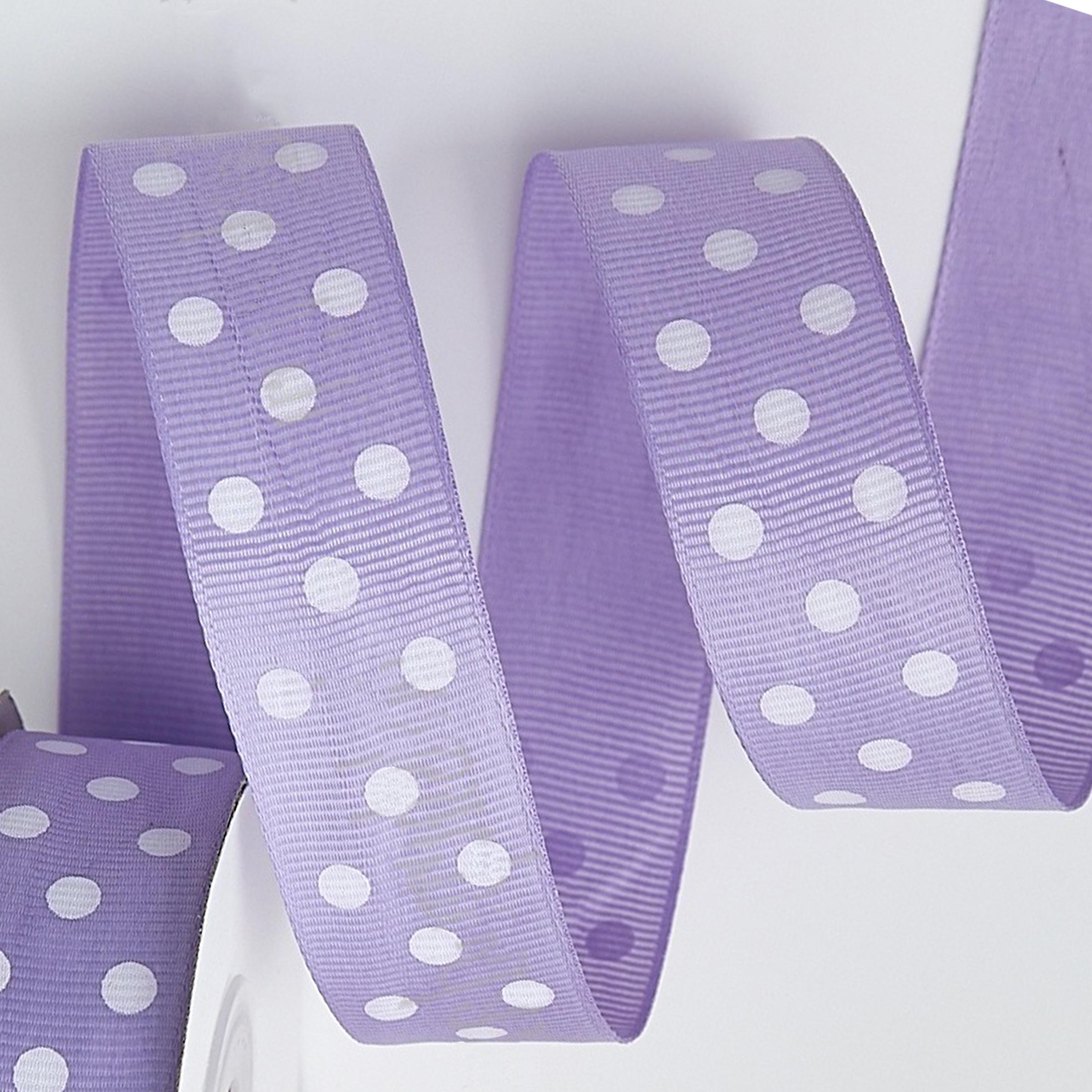 Репсовая лента «Горох» 2.5 см, фиолетовый
