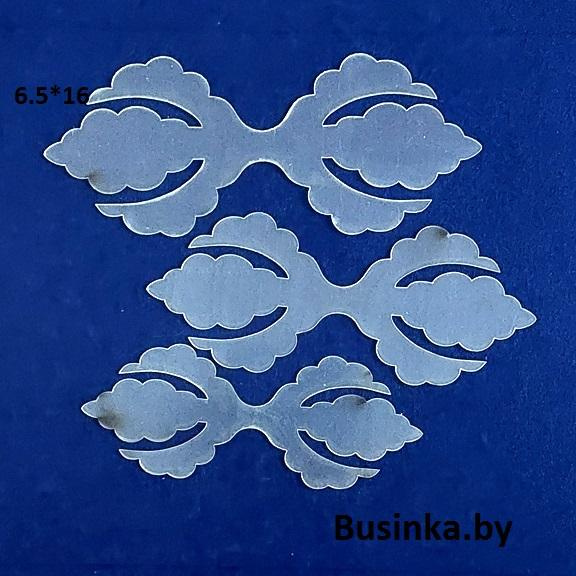 Набор шаблонов для бантиков «Трезубец кружевной»