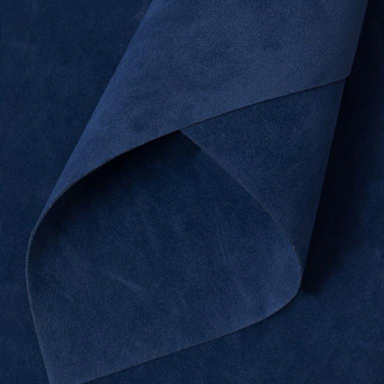 Замша искусственная двусторонняя, А4 (21*29 см) 1 шт, темно-синий №4
