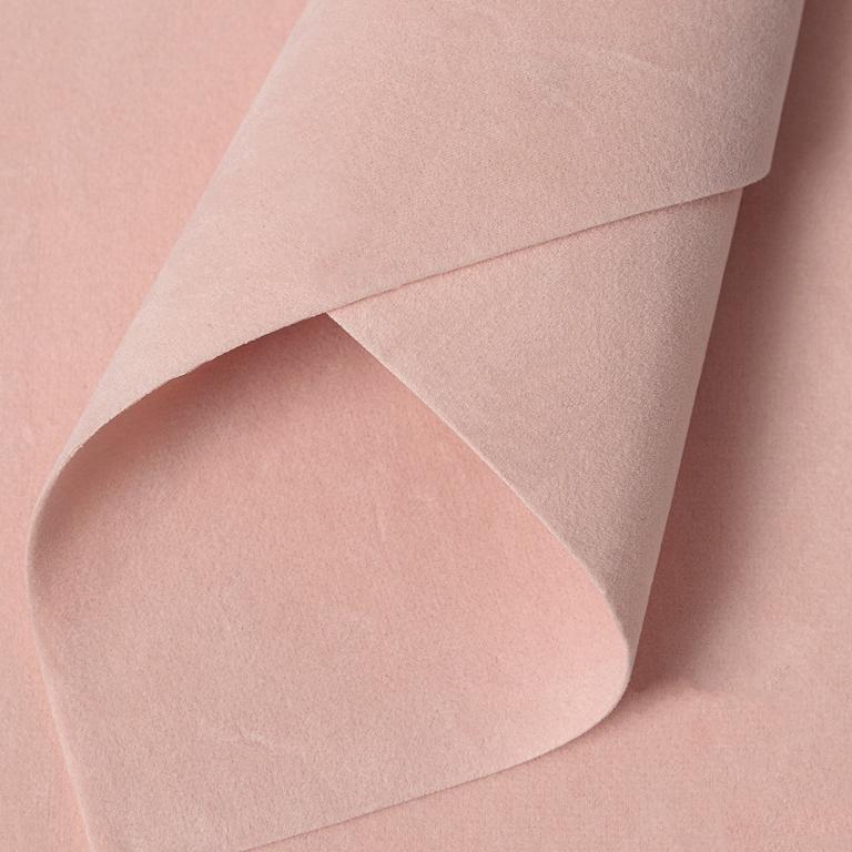 Замша искусственная двусторонняя, А4 (21*29 см) 1 шт, персиковый