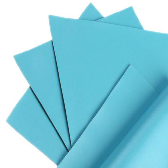 Кожзам однотонный 20*28 см, голубой (1 шт), тонкий