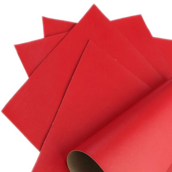 Кожзам однотонный 20*28 см, красный (1 шт), тонкий