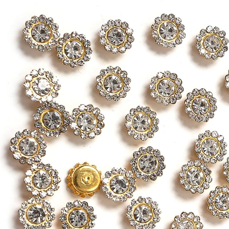 Кабошоны флоризель «Цветок» 8 мм, серебро